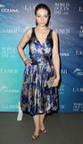 Michelle Trachtenberg looks gorgeous in low-cut dress showing some cleavage at La Mer and Oceana celebration for World Ocean Day 2008 in New York City