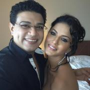 Sunny Leone Posing With Makeup Artist - Twitter Pic