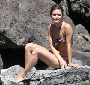 Rachel Bilson sexy bikini in Hawaii